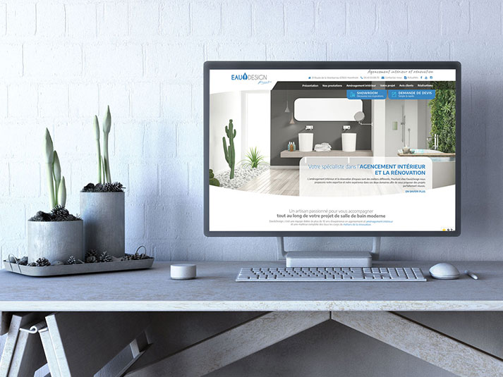 Site internet de l'entreprise Eau et Design